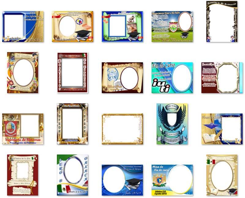 Fotomontajes de Grados Certificados Editables Diplomas Marcos ...