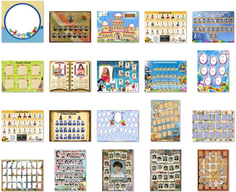 Plantillas psd, Diplomas (Motivos Varios),  Marcos,  Fotomontajes,  Fotos Grupales,  Reconocimientos,  Fototarjetas,  Mosaicos, Maquetas