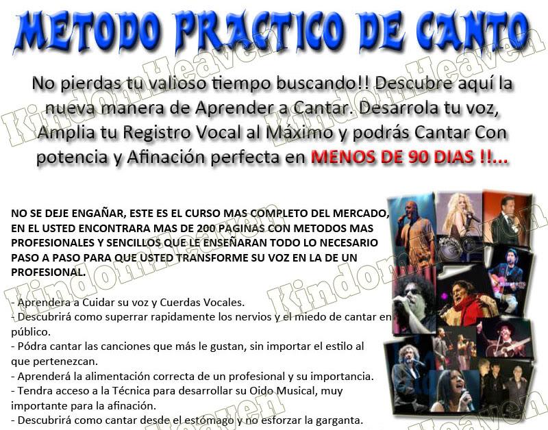 Video Curso de Canto y Tecnica Vocal