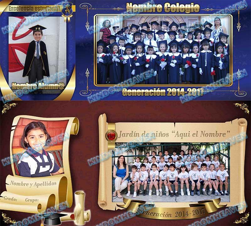 plantillas psd graduacion pgotoshop maquetas mosaicos fotos grupales