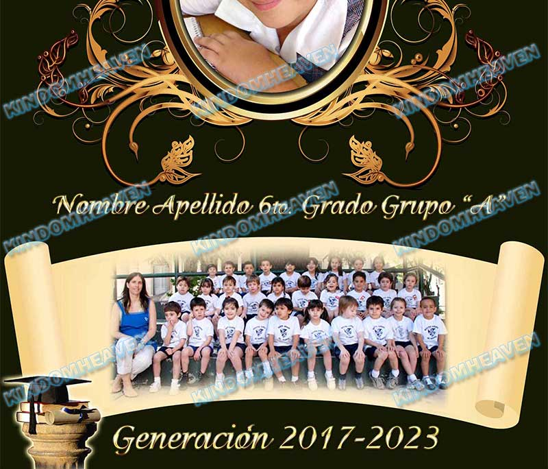 maqueta de foto grupal escolar graduacion psd photoshop