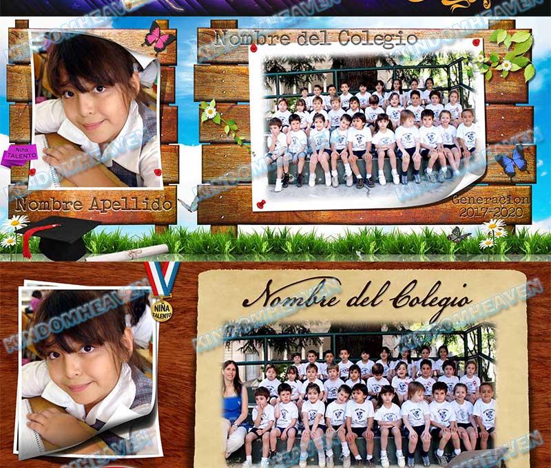 plantillas psd photoshop grados escolares graduacion maquetas fotos grupales infantiles