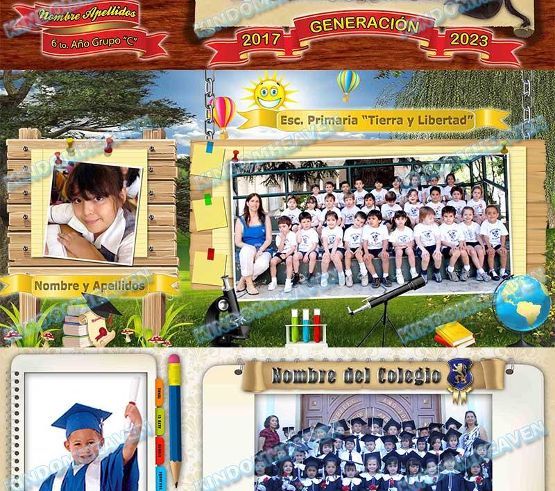 montajes psd mosaicos escolares maquetas fotos grupales