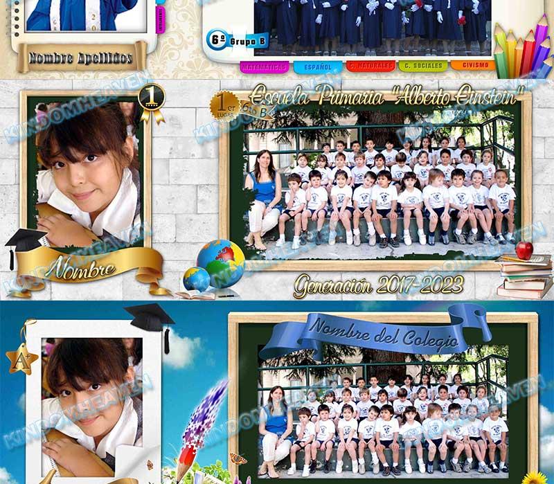 maquetas para fotos escolares fotos grupales psd photoshop capas editables originales profesionales