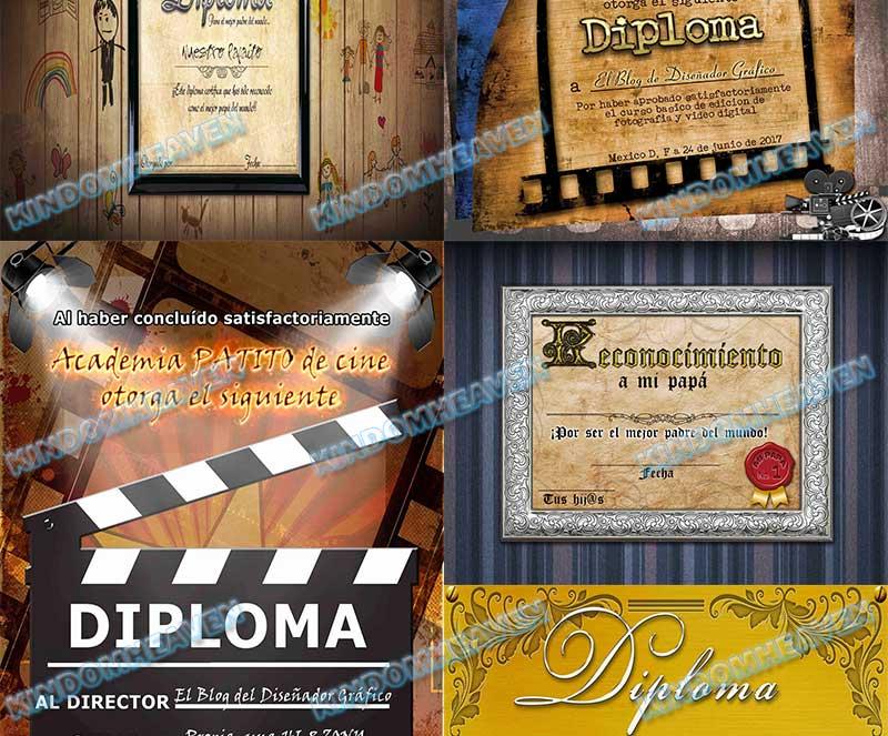 plantillas psd photoshop graduacion diplomas originales