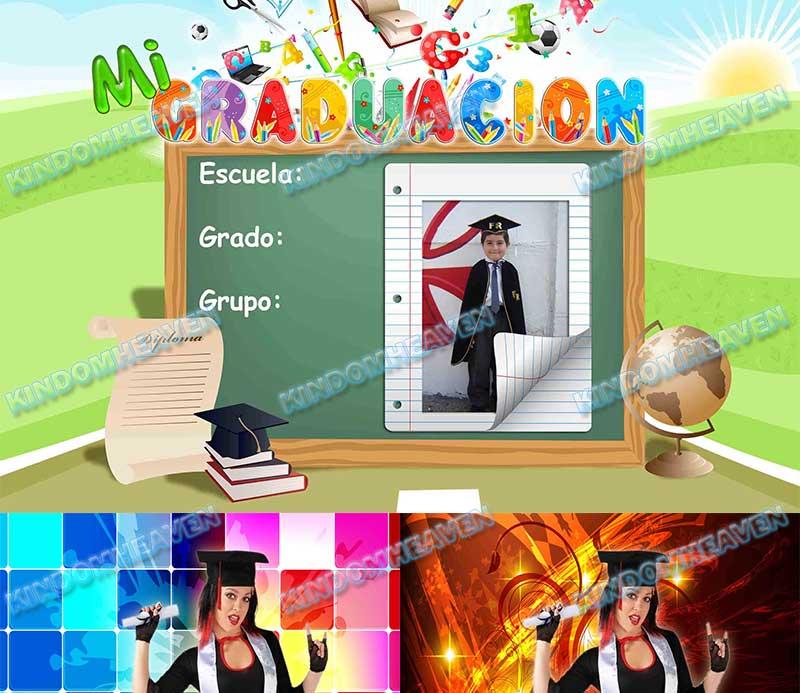 plantilla psd photoshop teen recuerdo de mi fiesta de graduacion