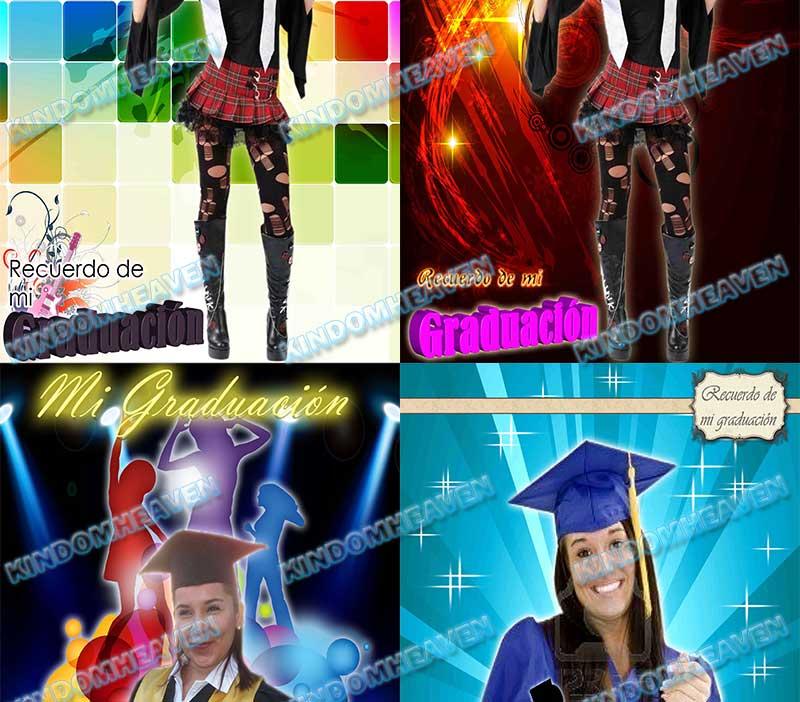 plantillas psd fotomontajes recuerdos de graduacion escolares