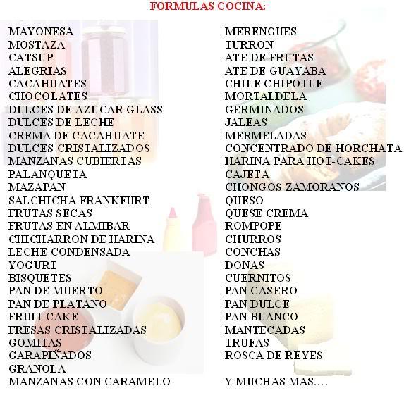 formulas cocina recetas