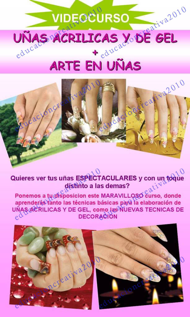 video curso decoracion de uñas manicure gel acrilicas