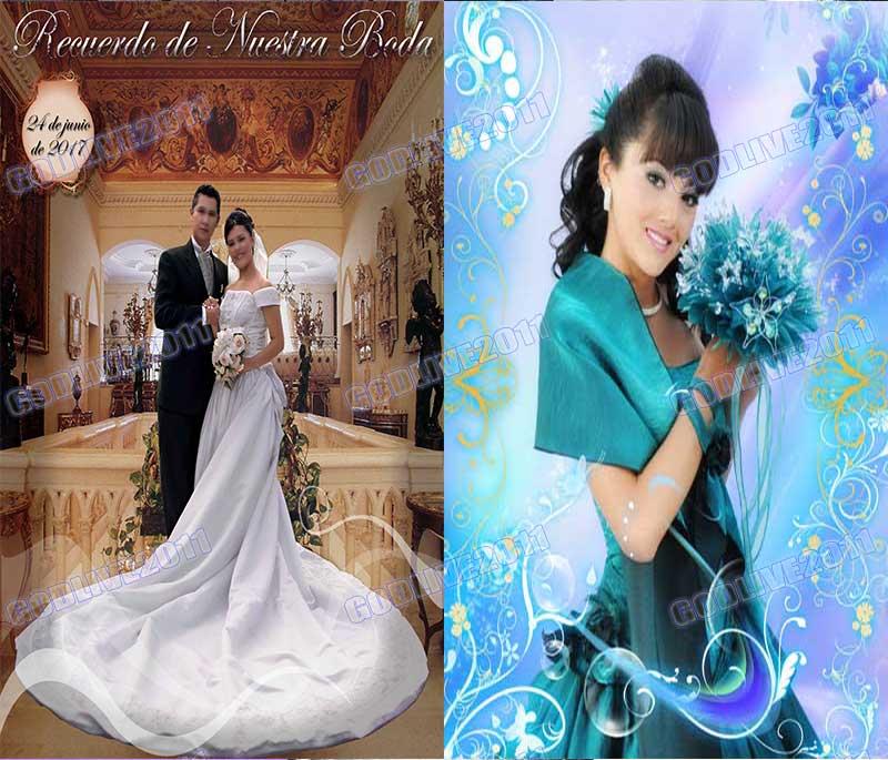 recuerdo de nuestra boda psd fotografia fotomontajes montajes boda wedding album