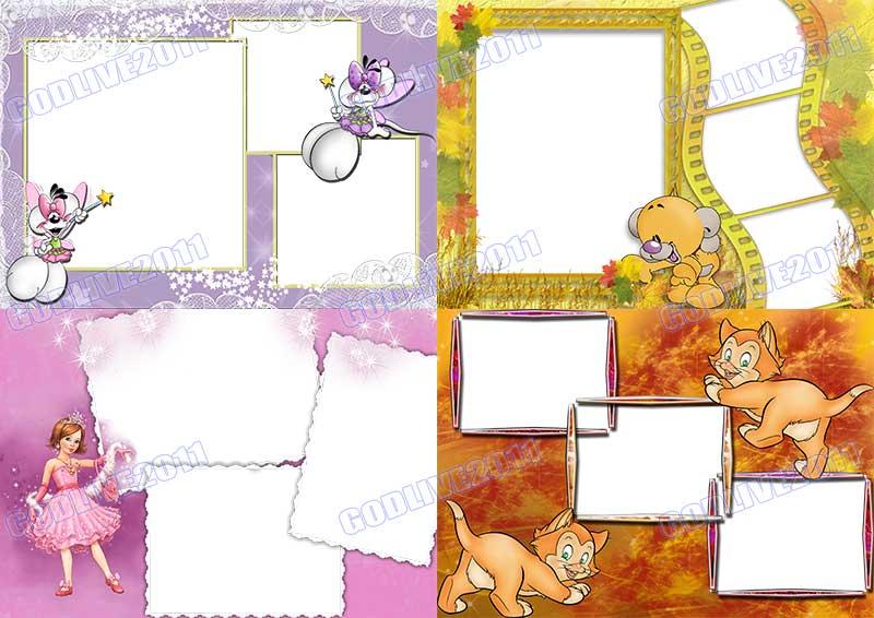 montajes infantiles psd gratis marcos para fotos niños niñas