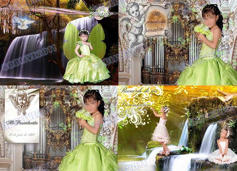 fotomontajes primera comunion mi presentacion niño niña psd photoshop