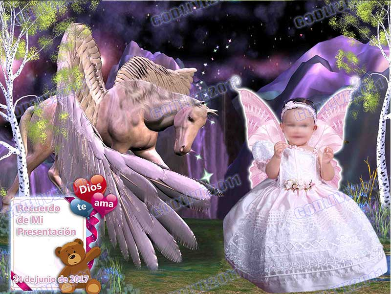fotomontaje primera comunion y bautizo psd para photoshop infantil