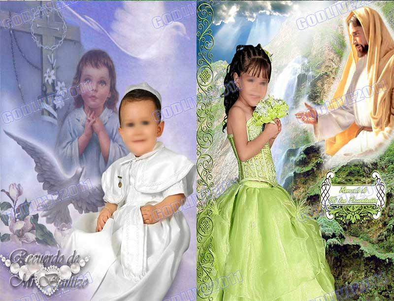 fotomontaje psd bautizo montaje infantil photoshop