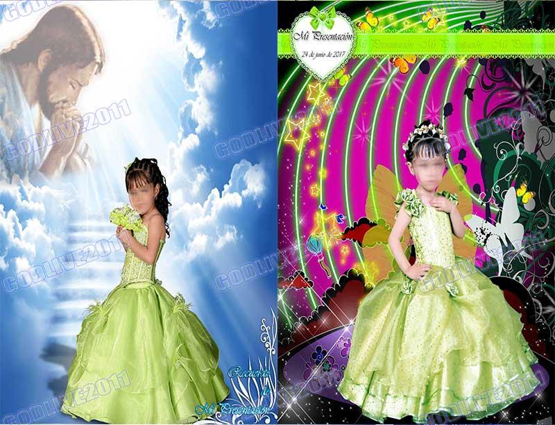 fotomontaje psd photoshop primera comunion bautizo infantil