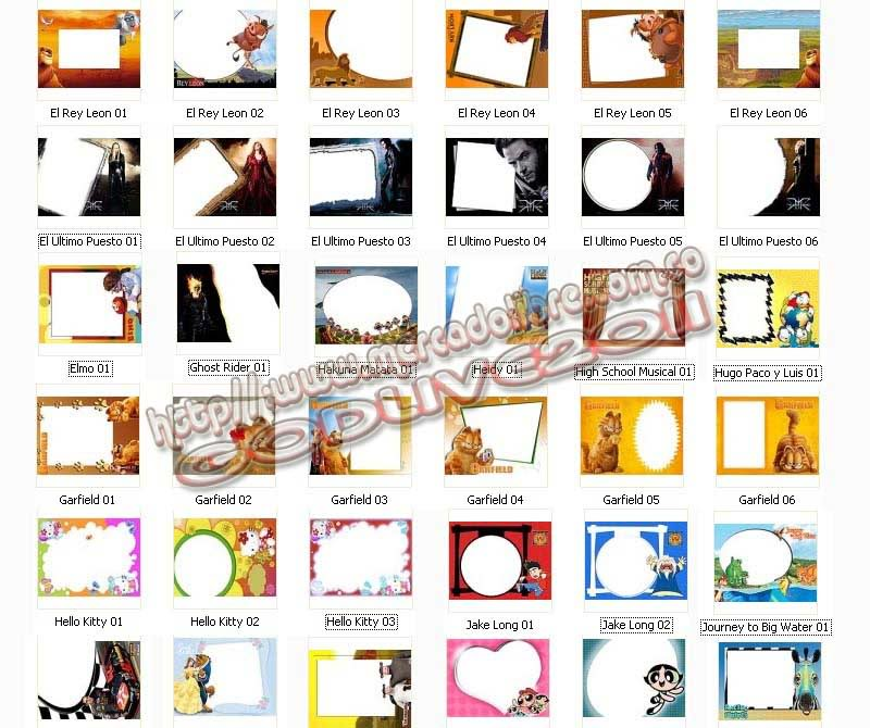 plantillas psd photoshop marcos infantiles frames