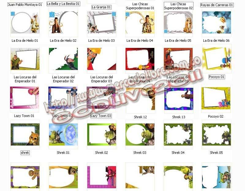 plantillas psd photoshop marcos infantiles