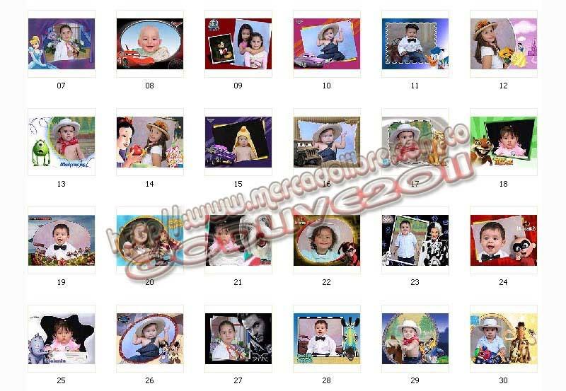 plantillas psd photoshop marcos frames infantiles