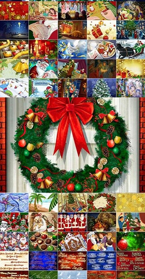 plantillas psd navideñas navidad fondos fotomontajes