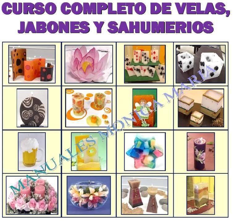 curso completo de velas aromaticas de gel decorativas jabones y sahumerios