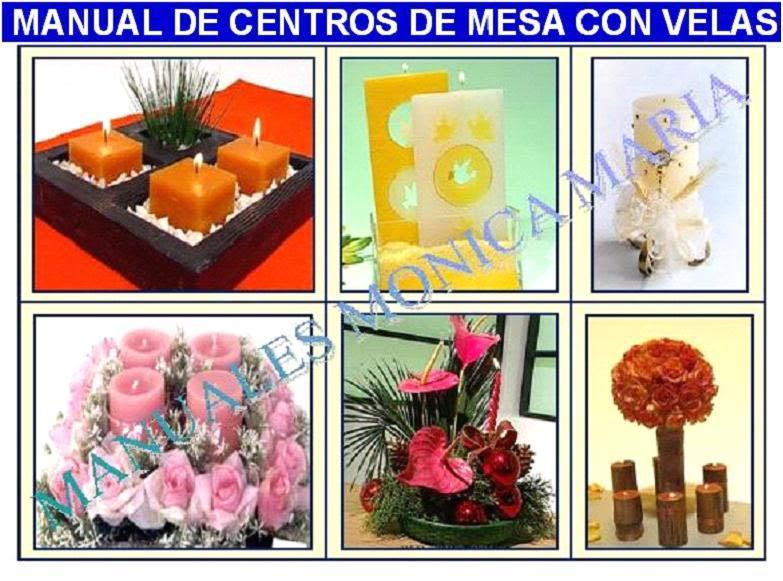 centros de mesa con velas decorativas