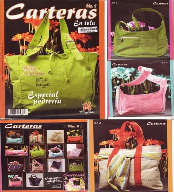 confeccionar bolsos carteras en tela pedreria