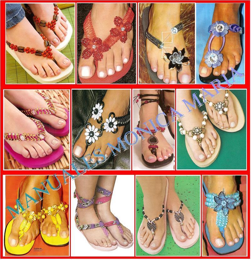 sandalias decoradas paso a paso