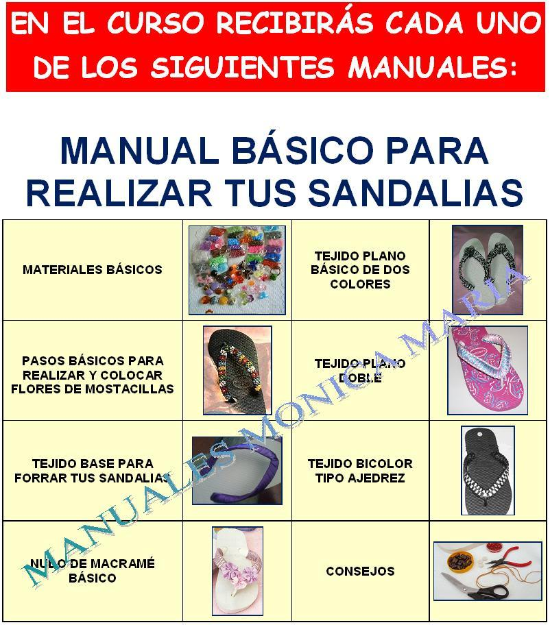 manual decoracion de sandalias