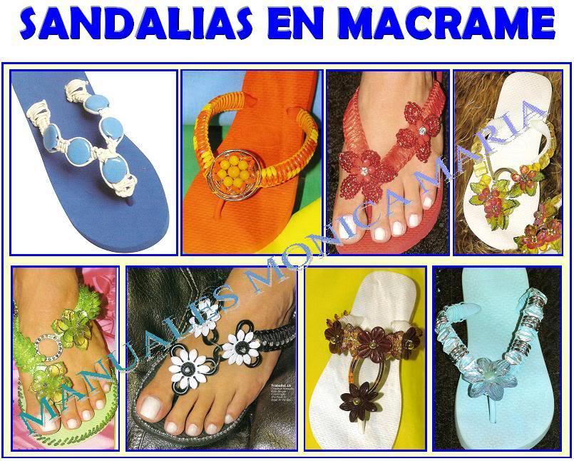 sandalias en macrame