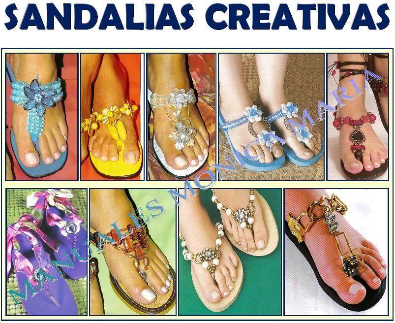sandalias creativas