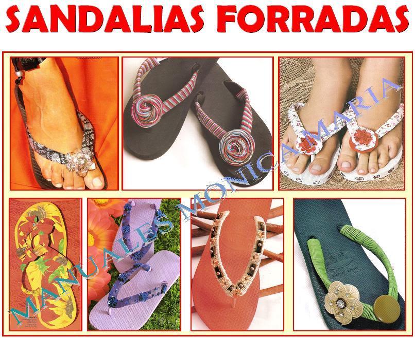 sandalias forradas