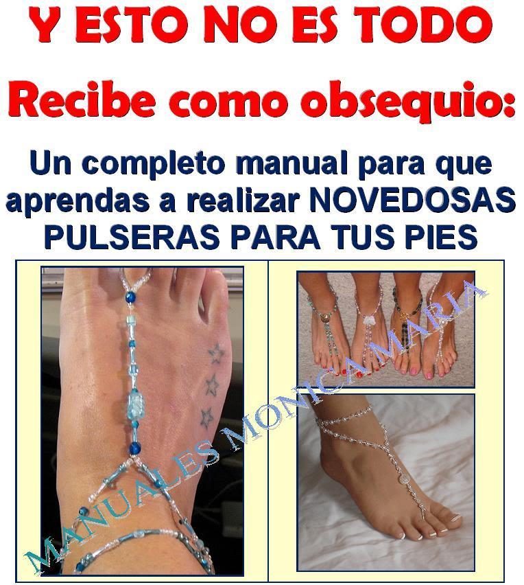 pulseras para pies