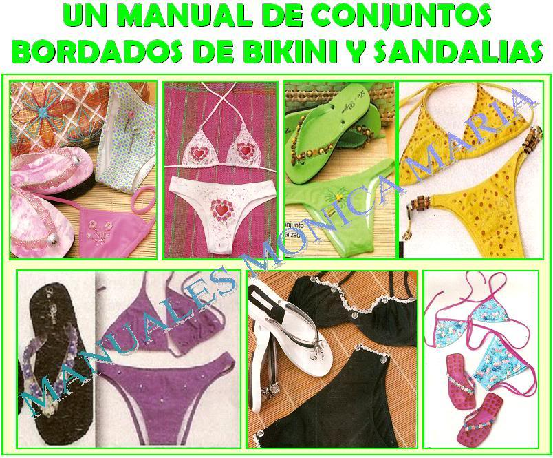 manual de bordados de bikini y sandalias