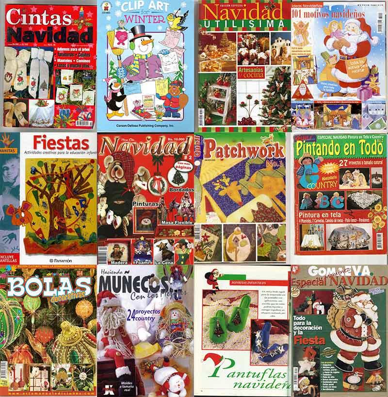 curso manualidades revistas navideñas navidad