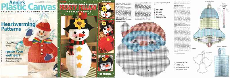 plastic canvas navidad manualidades navideñas