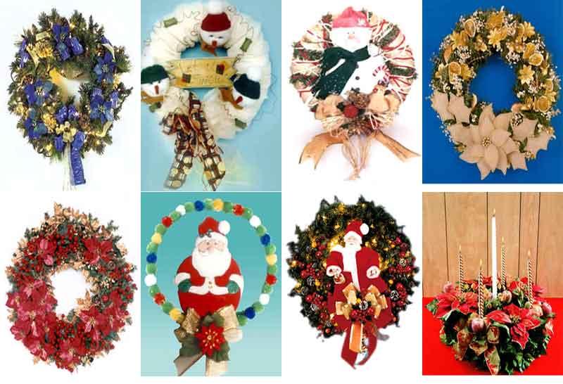 coronas navidad como hacer coronas navideñas manualidades paso a paso