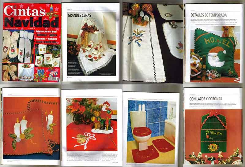 cintas navidad decoracion con cintas navideñas paso a paso revistas moldes patrones instrucciones
