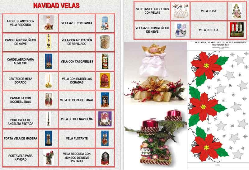 Decoracion de Velas Navideñas paso a paso instrucciones moldes ingredientes materiales herramientas decoracion de velas