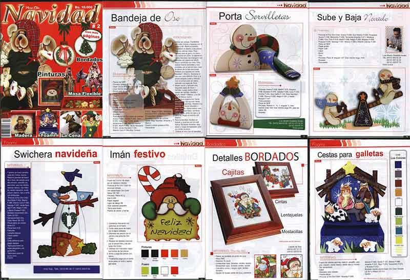 Navidad Con Bordados navideños revistas digitales paso a paso decoracion