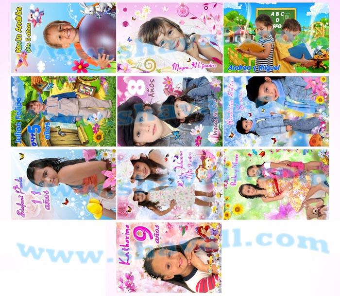 plantillas psd photoshop Foto Montajes Bebes Niños Infantiles