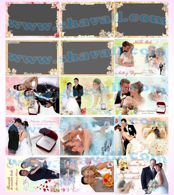 Plantillas Psd Fotomontajes Bodas - Fotomontajes Grados - Fotomontajes Diplomas - Fotomontajes Tarjetas