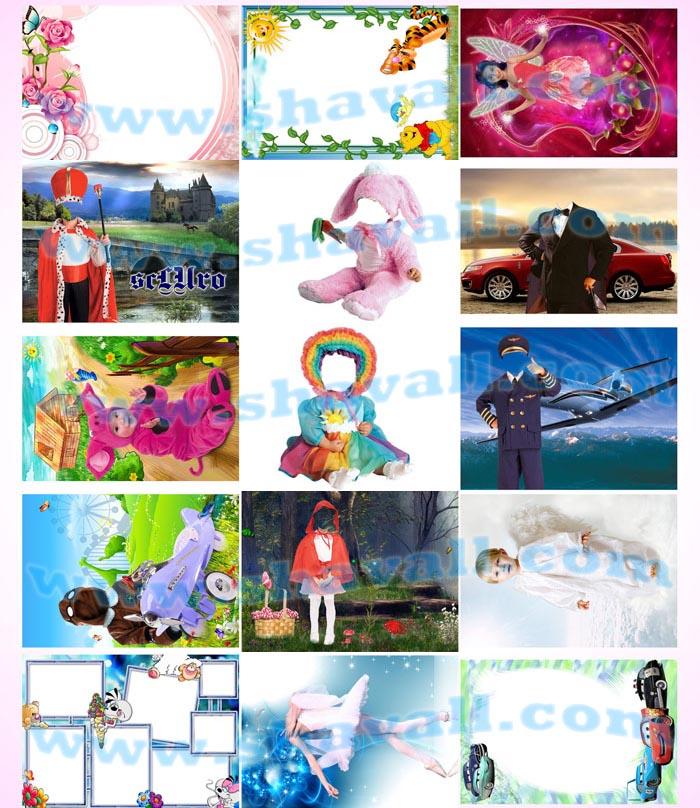 plantillas psd Fotobordes - Calendarios- Fotomontajes Embarazadas - Montajes Mujeres - Montajes Parejas Psd