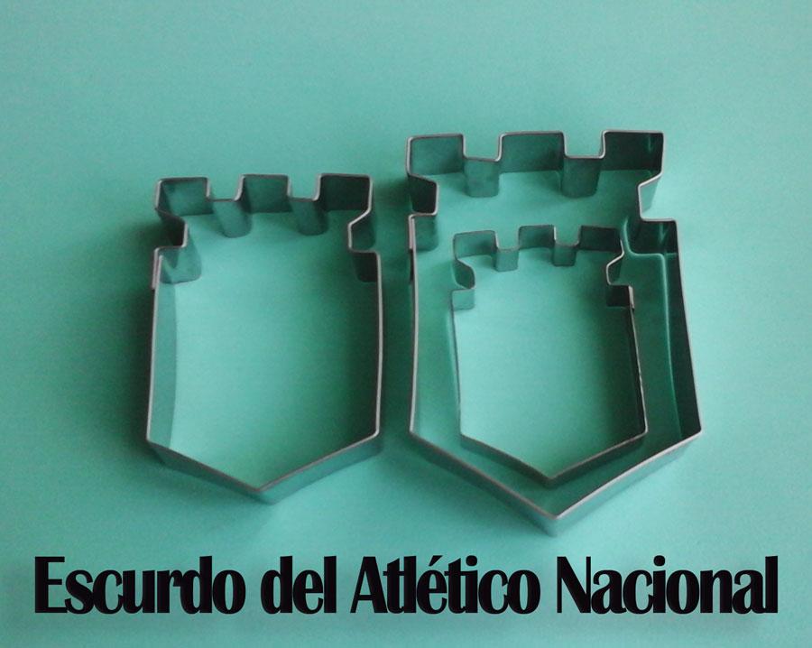 Molde cortador d galleta escudo atlético nacional y decoración fondant