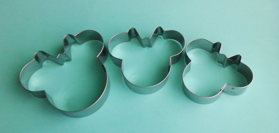 Cortador de galletas en acero minnie mouse