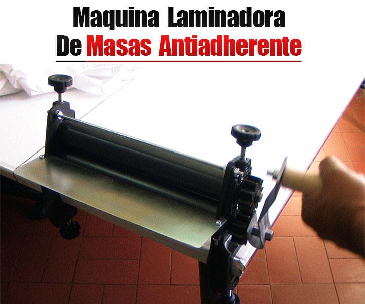 Alisadora antiadherente rodillos 30 cm laminadora de masa pasta