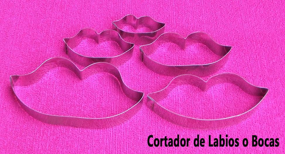 Molde cortador de labios o bocas para galletas
