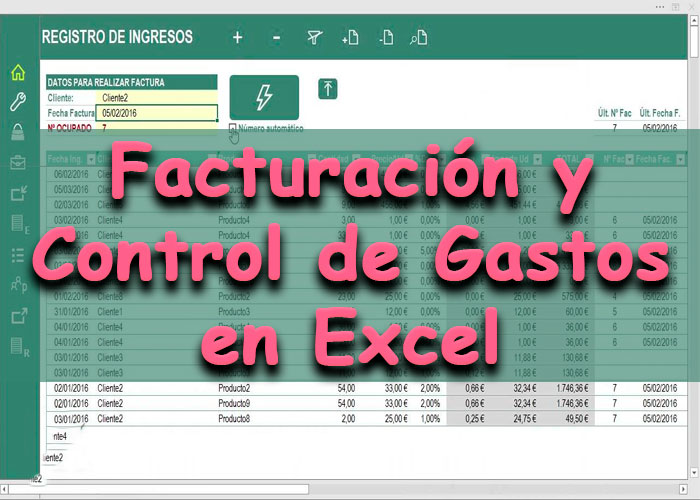 Vídeo Curso Aplicación práctica en Excel Facturación Control de