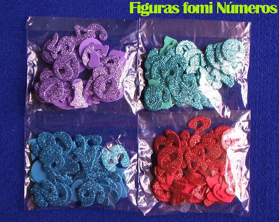 Figuras en foami escarchado números en goma eva manualidades