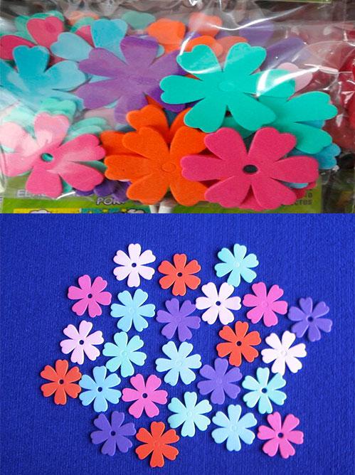 Figuras en foamy Flores No.5 en fomy plano floristería en goma eva