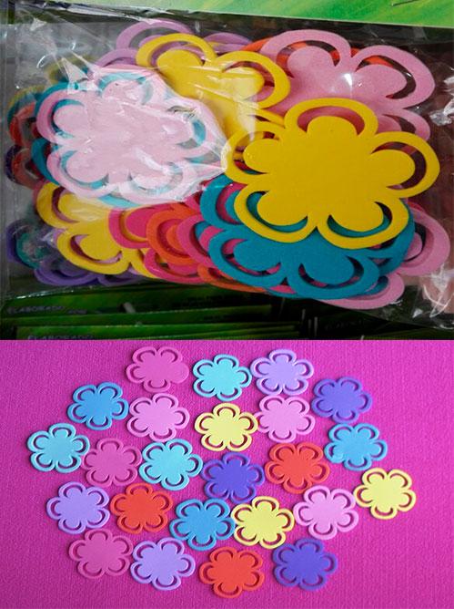 Figuras en foami Flores no.4  en fomi plano floristería en goma eva